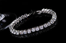 "5.00Ct Diamond Tennis Bracelet 6.5"" 1 Row Round Diamonds 14K White Gold Toned"