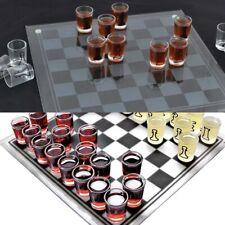 Small Shot Glass Chess Set Drinking Game Set Glass Chess Board Game UK