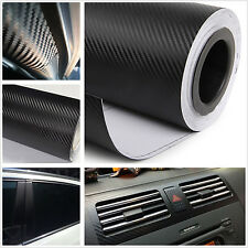 Car Pickup Exterior Decoration Black Carbon Fiber Vinyl Wrap Film Sheet Sticker