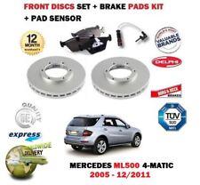 para Mercedes ML500 4matic 2005-2011 Discos freno Delantero Set + pastillas kit