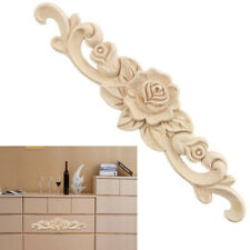 1Pc Wooden Carved Applique Furniture Unpainted Mouldings Decal Onlay Home Decor
