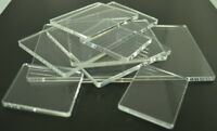 Clear Plastic Acrylic Perspex Block Pad For Clear / Unmounted Stamps Many Sizes