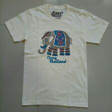 Men Lady T Shirt short sleeve 100%Cotton Rubber Screen Print Elephant Size S M L