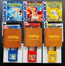 Pokemon RED BLUE YELLOW TRILOGY 🔥 Nintendo GAMEBOY CIB Complete Box Manual Cart