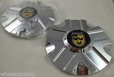 Lexani Wheels 'STERLING' Chrome Custom Wheel Center Caps Set of 2 # L-CAP-05