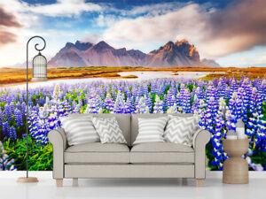 3D Sea Flower Under Mountain Self-adhesive TV Background Mural Bedroom Wallpaper
