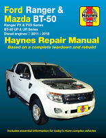 Ford Ranger PX & PXII / Mazda BT-50 UP & UR Series 2011-2018 Repair Manual