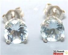 Aquamarine White Gold 14k Fine Earrings