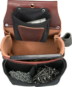 Occidental Leather 5564 Belt-Worn Fastener Bag with Divided Nylon Double Bag