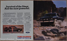 1985 FORD RANGER Pickup 2-page advertisement, Ranger Pickup Truck