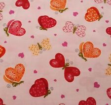 """35"""" Love Bugs by Studio 8 Quilting Treasures Butterflies on Pink"""