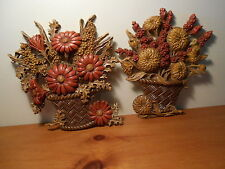 Vintage Flower Wall Plaques Vintage Home Interiors