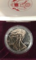 1990  American Silver Eagle Gold two Toned Proof coin 1$ dollar