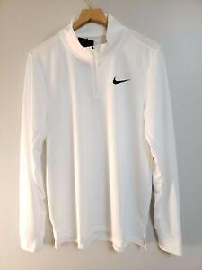 Nike Breathe Size Medium Superset 1/4 Zip Training Pullover White CZ1212 100