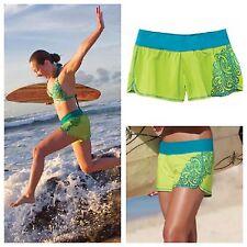. $55 NWT Women's PRANA Splash Boardshorts Water Swimming Running Green  XL T9