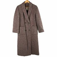 Vintage Pendleton LTD Wool Long Coat Womens Size 10 Double Breasted Herringbone