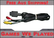 Genuine Super Nintendo SNES & N64 AV Cord Cable Replacement Leads Original **