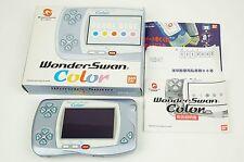 Bandai Wonderswan Color Pearl Blue Console WS Box Japan USED