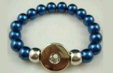 Hot Diy handmade Pearl Beads Bracelet Fit Chuck snap buttom