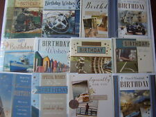 Pack of Male 12 Traditional Birthday Cards Men's For Him Greetings Card # 3