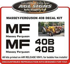 MASSEY FERGUSON 40B Replacement Tractor Decal Set  MF 40B