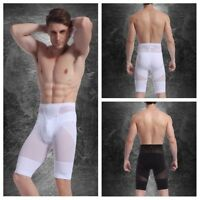 Men Sports Gym Underwear Boxer Briefs Compression Fitness Shorts Black Leggings