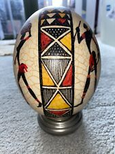 Beautiful Painted African Ostrich Egg