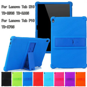 Case Cover For Lenovo Tab M10 TB-X505F TB-X605 P10 TB-X705 10.1'' Silicone Stand