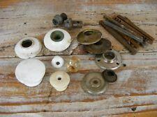 Vintage Porcelain Doorknobs Cabinet Pulls and Parts - Craft Lot