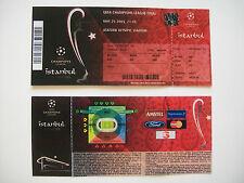 2005 Copa Europea de Liga de Campeones Final entradas LIVERPOOL V A.C. Milán. en perfecto estado.
