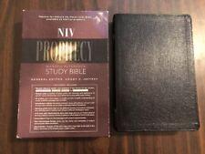 NIV 1984 Prophecy Study Bible - Black Bonded Leather - OOP 84 - Grant Jeffrey