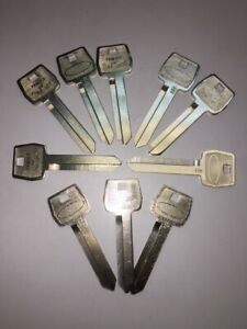 Set of 10 Key Blanks uncut blade H54 Ford ignition and door 1964-1991