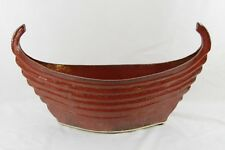 Rare Mid Century Modern Viking Shaped Boat Large Vase Signed Hart MCM
