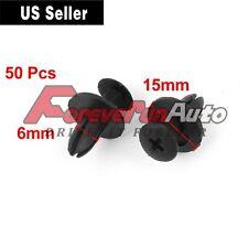 50 Pcs Auto Bumper Fender 6mm Hole Black Plastic Rivets Fasteners for Toyota