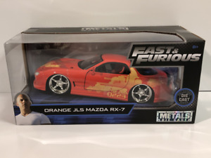 Fast and Furious Orange JLS 1995 Mazda RX-7 1:24 Jada 30747