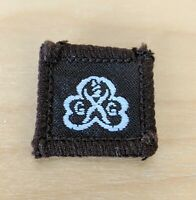 Vintage Girl Guides Embroidered Badge  Square  Brown  1970/80s