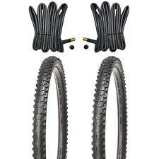 2 Mountainbike Reifen MTB Fahrradreifen 26 Zoll 26x1.95 + 2 x Schlauch mit AV