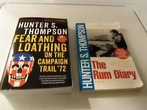 2 Hunter S. Thompson Paperbacks The Rum Diary Fear & Loathing campaign trail 72