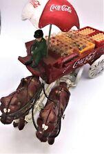 Coca-Cola Die Cast Horse-Drawn Wagon -- EXCELLENT CONDITION -- BEAUTIFUL!