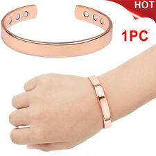 US Ship Pure Copper Magnetic Bracelet Bio Pain Heal Arthritis Bangle Wristband