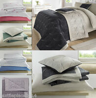 Luxury 100% Cotton Quilted Reversible Embroidered Bedspread 3Pcs Set