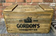 Wood Storage Trunk / Chest - Gordons Gin - Made of Reclaimed Vintage Wood