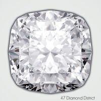 1.05ct. H-VVS2 Ex Cut Square Cushion AGI Certified Diamond 6.18x5.44x3.72mm