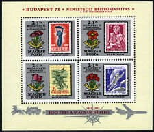 Hungary B293 S/S MNH. Stamp Exhibition.Carnations,Dahlia,Tulips,Anemones, 1971