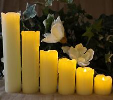 Battery Operated 6 Natural Large Flicker LED Flameless Candle Wedding Tea Lights
