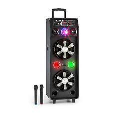 Mobile PA Anlage Karaoke Box Aktiv Bluetooth Lautsprecher Sound System USB SD