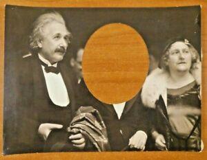 "Very Rare Albert Einstein Original Type 1 Photo 7.25"" x 9.5"" Center Cutout"