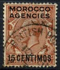 Agencias de Marruecos 1925 SG#145, 15c 1.5d en rojo-pardo KGV utilizado #D47460