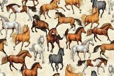 Fat Quarter World of Horses Scenic Horse Pony Cotton Quilting Fabric SPX 25323