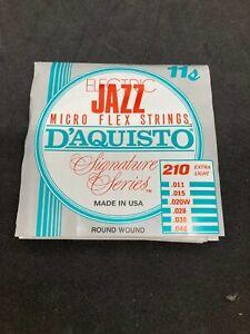 D'AQUISTO Electric Jazz Micro Flex Extra Light 11-48 6-String Set #210